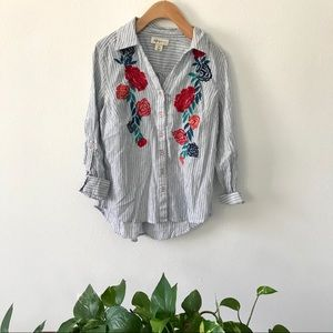 Embroidered Floral Shirt Style & Co